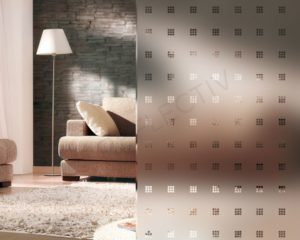 Frosted with transparent squares INT460